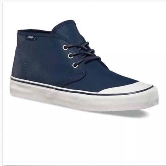 38acbe8f9b Vans Prairie Chukka PVW Waxed Navy Mens Shoes